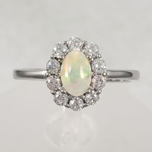 Sterling Natural Opal Ring